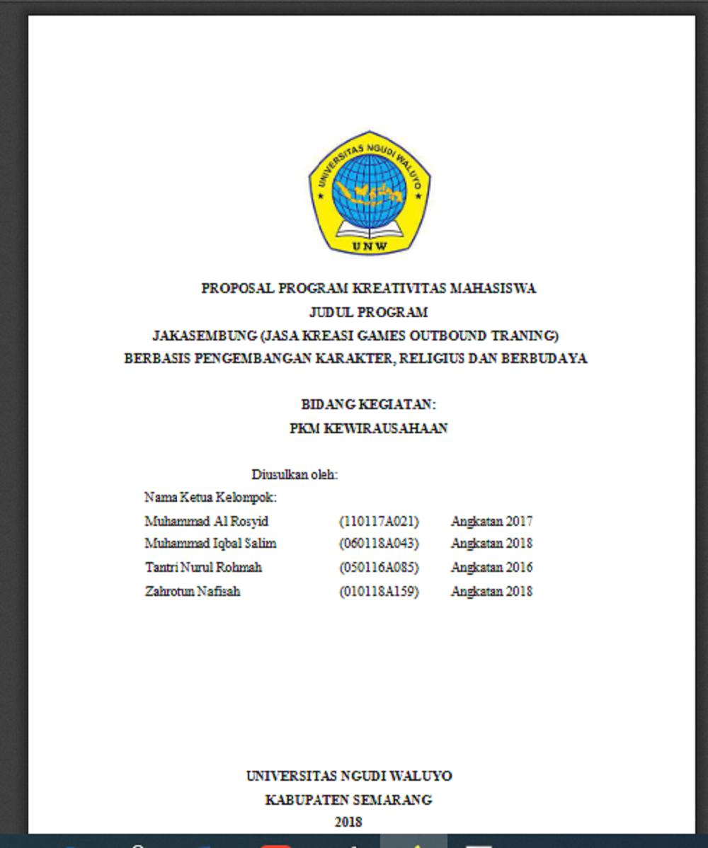 PROGRAM KREATIVITAS MAHASISWA 2019